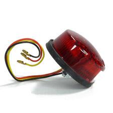 LED Motorrad Rücklicht rot rund mit Kennzeichen Beleuchtung Cafe Racer Style
