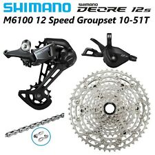 4Pcs/Set SHIMANO DEORE M6100 12 Speed MTB Groupset 12S Wear and Tear Groupset