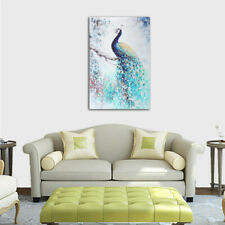 Unframed Canvas Print Peacock Wall Art Modern Painting Picture Room Home Decor