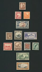 NEW ZEALAND STAMPS 1935 SG #557/69 PICTORIALS SET TO 3/- EGMONT (NO 1/2d) MNH VF