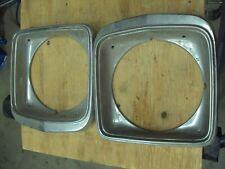 1975 Malibu Right & Left Side HeadLight Trim Bezel Molding # 345386RH/345385LH