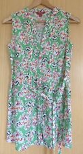 Monsoon Ladies Top Blouse 10 BNWOT New Green Floral Long Smart Casual (yb)
