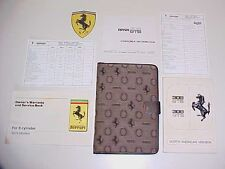 Ferrari 308 Owners Manual_Pouch_Warranty Card_Lube Chart_Consumer Book GTS GTB