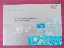 AUDI NAVIGATION SAT NAV (COLOUR MONITOR) SYSTEM HANDBOOK. 80 TT A3 A4 S4 (AN 33)