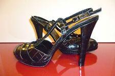 Sonia Rykiel 41 Heels Shoes Peeptoe Leather Platform New NWOB Sandals Vintage