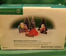 "Dept.56, North Pole, ""Marshmallows Around The Campfire"" New"