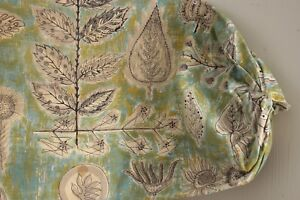 Vintage mid century modern 1970's bolster pillow cover Boussac Pasceline Villon