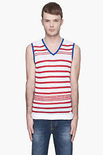 DIESEL K-DUPELL RED STRIPE TANK TOP SIZE L 100% AUTHENTIC