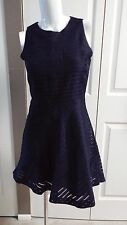 NEW BANANA REPUBLIC SLEEVELESS NAVY FIT AND FLARE PETITE DRESS SIZE 0P