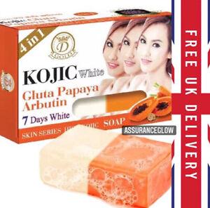KOJIC WHITE SOAP Gluta Papaya Arbutin Skin Whitening In 7 Days (ORIGINAL)