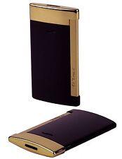 S.T. Dupont Slim 7 schwarz gold Feuerzeug mit Flat-Jetflamme Neu - 027708
