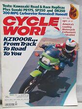 Cycle World Magazine October 1982 Kawasaki KZ1000R Suzuki PE175 SP250 DR250
