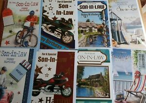 Birthday Cards - Son-in-Law - Standard Size