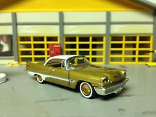 1/64 1957 DeSoTo Adventurer in Gold/White/Gold/Blk Int with  392 Hemi with 2-4's