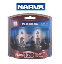 NARVA H1 +120% PLUS 120 HALOGEN LIGHT BULBS GLOBES NEW 12V 48360BL2