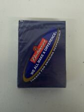 Anheuser Bush Budweiser Factory Sealed Playing Cards we all make a difference