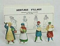 Dept 56 Heritage Village Shopkeepers People Accessories 5966-8 Set of 4 Vintage