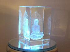 cristalloterapia CRISTALLO BUDDHA BASE LED COLORE statua oriente scultura feng