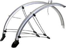 Fahrrad Schutzblech SET VR + HR 26'' 60 mm silber Kunststoff Kontaktstreifen