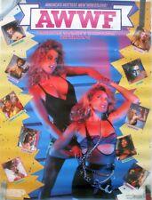 RARE WWF WOMEN'S WRESTLING 1988 VINTAGE ORIGINAL PIN UP POSTER