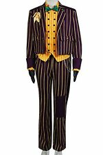 Batman Arkham Asylum Joker COSplay Costume Jacket Coat Shirt Tuxedo Uniform Suit