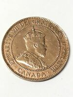 Edward VII One Cent 1908 Coin Canada