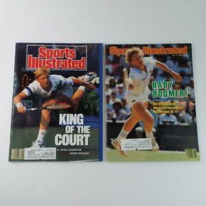 Sports Illustrated Magazine 1980s Tennis Boris Becker Lot Of 2 Vintage