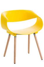 Chaises jaunes en plastique pour la cuisine