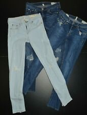 "RAG AND BONE ""SKINNY, ZIPPER CAPRI"" WOMENS LOT OF 3 DESIGNER JEANS SIZE: 26"
