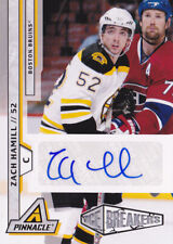 10-11 Pinnacle Zach Hamill /299 Auto Rookie Ice Breakers Briuns 2010