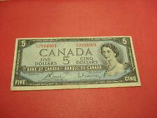 1954 Canadian $5 bill - five dollar note Canada - SX2894901