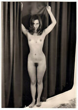 HEREINSPAZIERT ! NACKTE TÄNZERIN IM CABARET * Vintage 1970s French Stage Photo