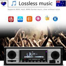 Bluetooth Vintage Car Radio MP3 Player Stereo USB AUX Classic Stereo Audio AU