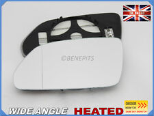 VW POLO 2005-2009 Wing Mirror Glass CONVEX Wide Angle HEATED Left Side /1036