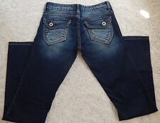 GUESS Denim Pants Jeans Size 26 Dark Washed Blue New with defects