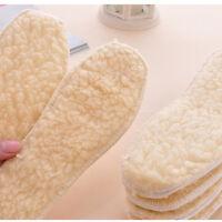 Mens Womens Winter Boot Shoe Warm Wool Fleece Thermal Insoles 1 Pair NTXP