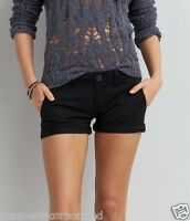 American Eagle Outfitters AEO Womens Low Rise Stretch Black Shortie Shorts - NWT