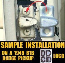 DODGE B-SERIES TRUCK ✖2 ANTIQUE NOS MOPAR DOOR LOCK DOVETAIL WEDGE STRIKE PLATES