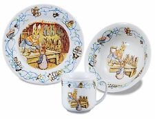 150th Anniversary-Peter Rabbit - Porcelain Dining Set - Mug/Bowl/Plate - Reutter