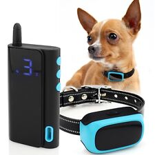 eXuby 3 Mode Shock Collar for Small Dogs 5-15lbs Safe, Rechargeable, Waterproof