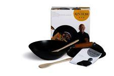 Ken Hom Everyday Range Carbon Steel Non-stick 31cm Wok Set With Lid - Black