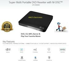LG Slim USB External Drive DVD/CD/MP3 Player,Burner,Writer For Laptop/Mac 2.0