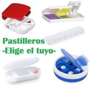 Pastillero organizador de medicamentos, Pastilleros de Bolsillo, corta pastillas