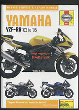 VGC Yamaha YZF-R6 (2003-2005) Haynes Work-Shop Manual 600 (Injection) Sports