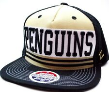 Pittsburgh Penguins Zephyr NHL Team Logo Headline Snapback Hockey Cap Hat