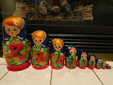Russian Nesting Dolls Beautiful Strawberries Large Set! 10 Pieces! Nice Gift!