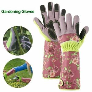 Rose gloves garden gloves rose long cuff thorn protection women Work Gloves