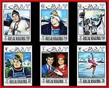 Ras Al Khaima / Uae 1968 Hiver Olympiques non MNH Ski, Sports, Patinage