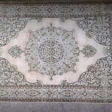 """SALE 14' x9'8"""" cream blue pastel large oushak pastel Vintage Overdyed carpet rug"""