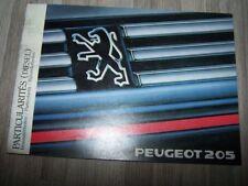 1N - Guide/Notice/Manuel/Carnet d'entretien/Conducteur/Emploi/bord Peugeot 205